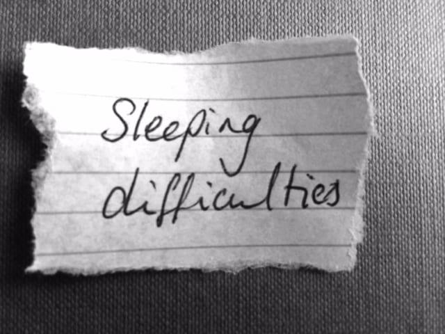 sleeping difficulties
